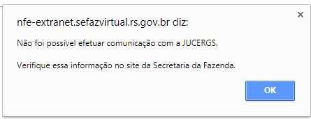 Erro comunicação com JUCERGS ao gerar NFE para MEI RS